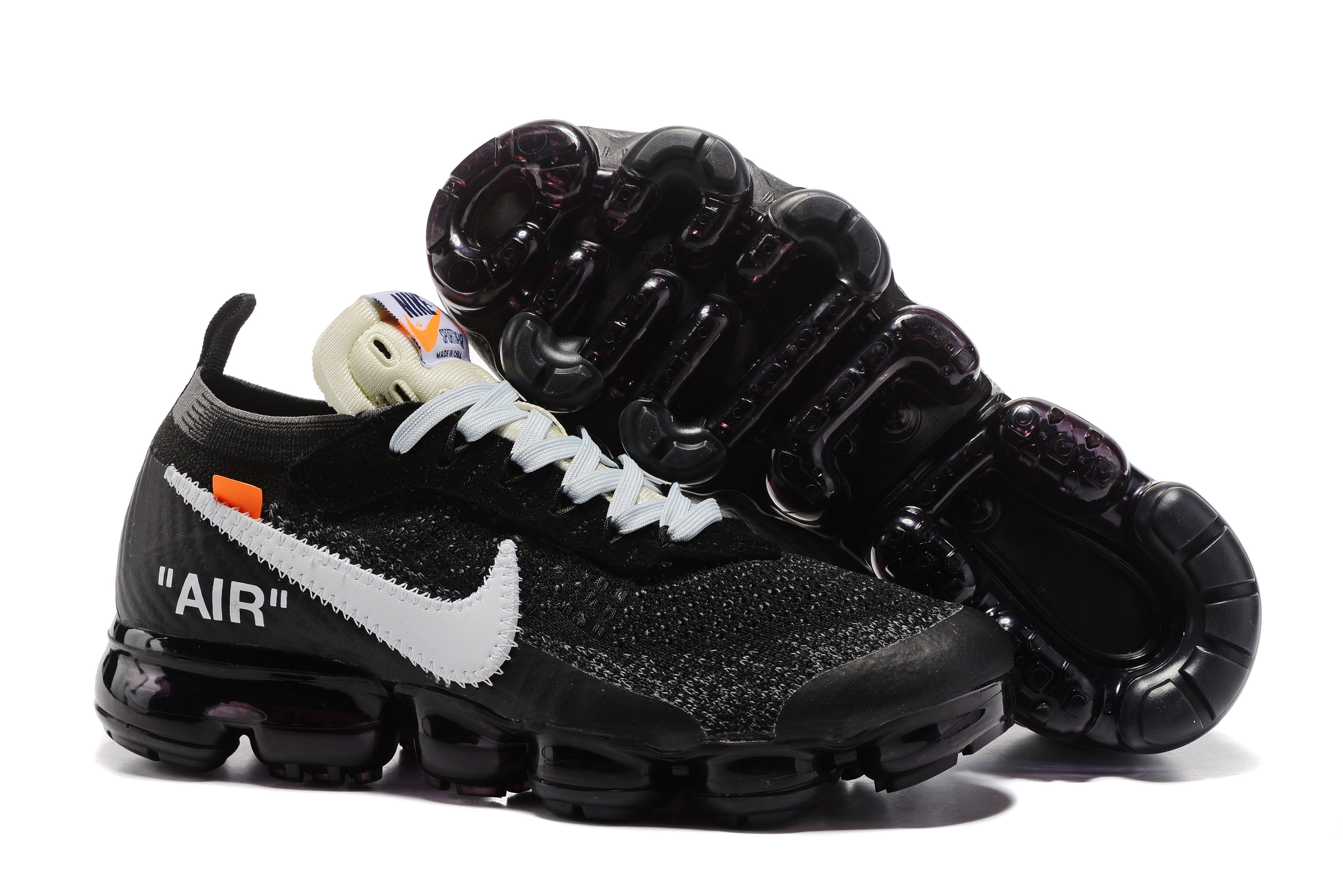 OFF-White X Nike Air VaporMax 849558 099 Black White Shoe For Sale.jpg