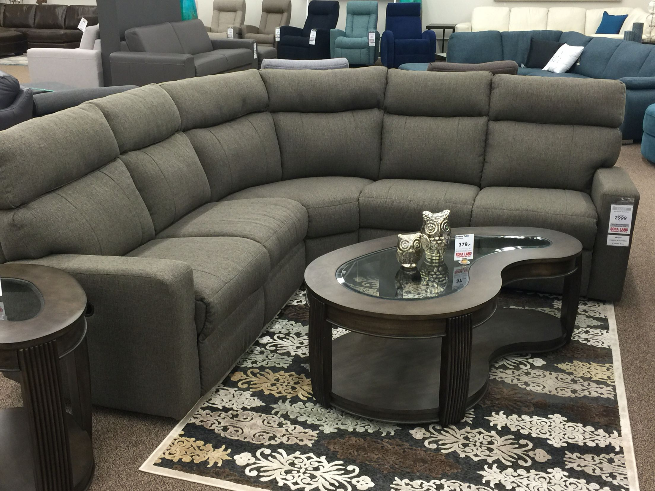 Look how amazed these owls are with our new Es sectional There