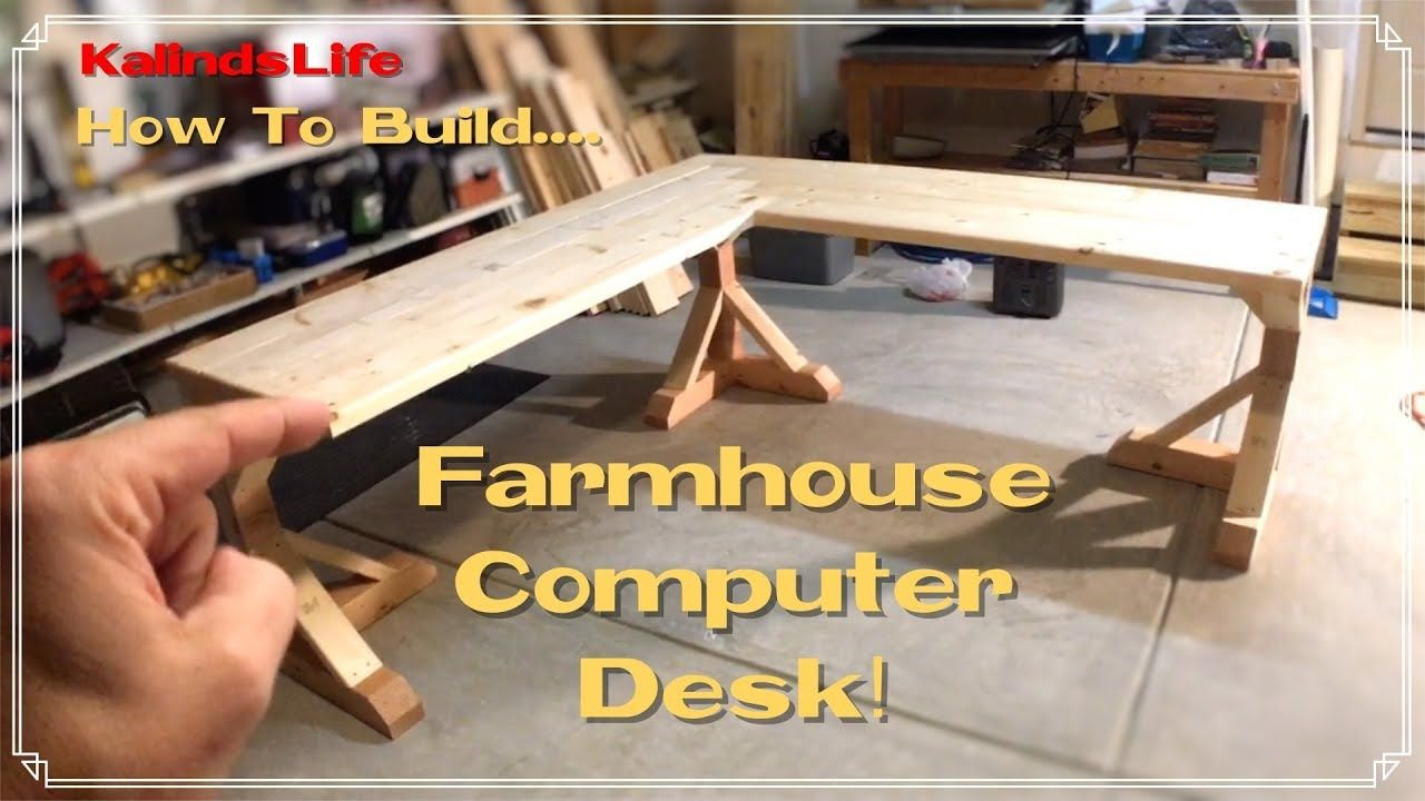How To Build this Awesome Farmhouse Corner Desk! LESS THAN