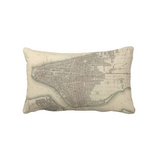 Vintage Map of Lower New York City (1840) Throw Pillows from Zazzle.com $52.00