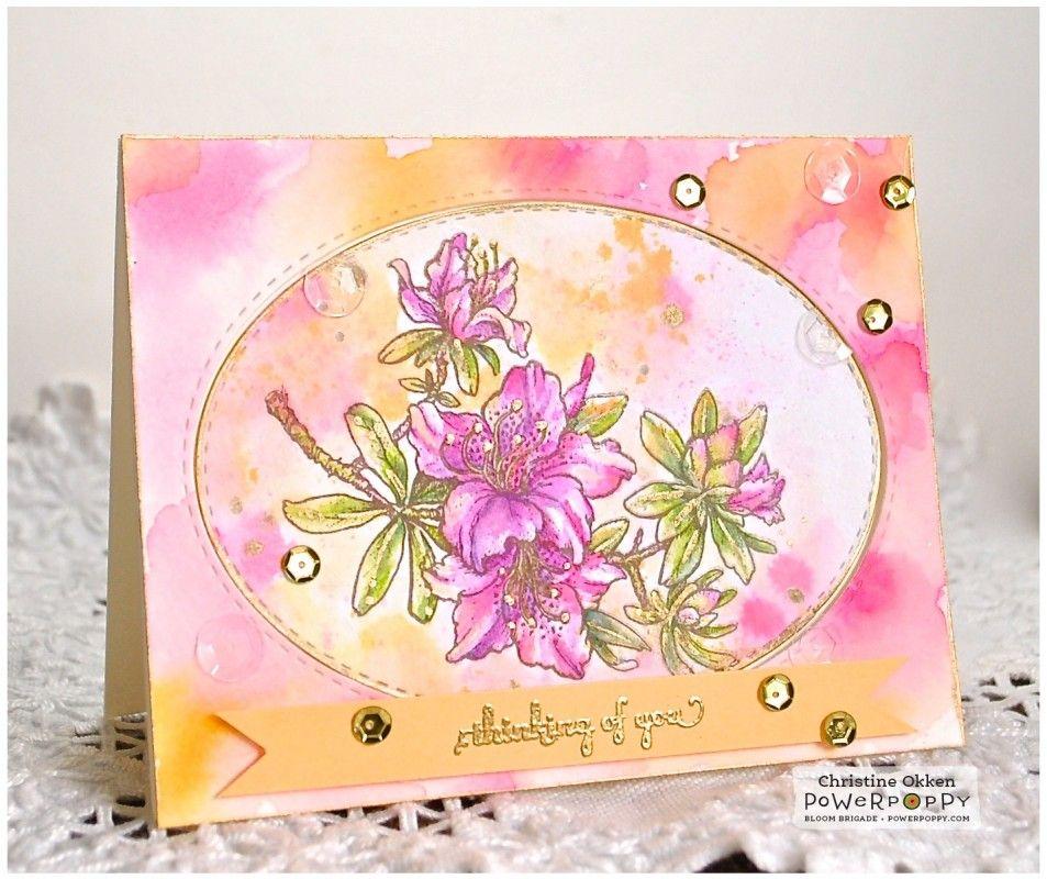 Watercoloured Azaleas