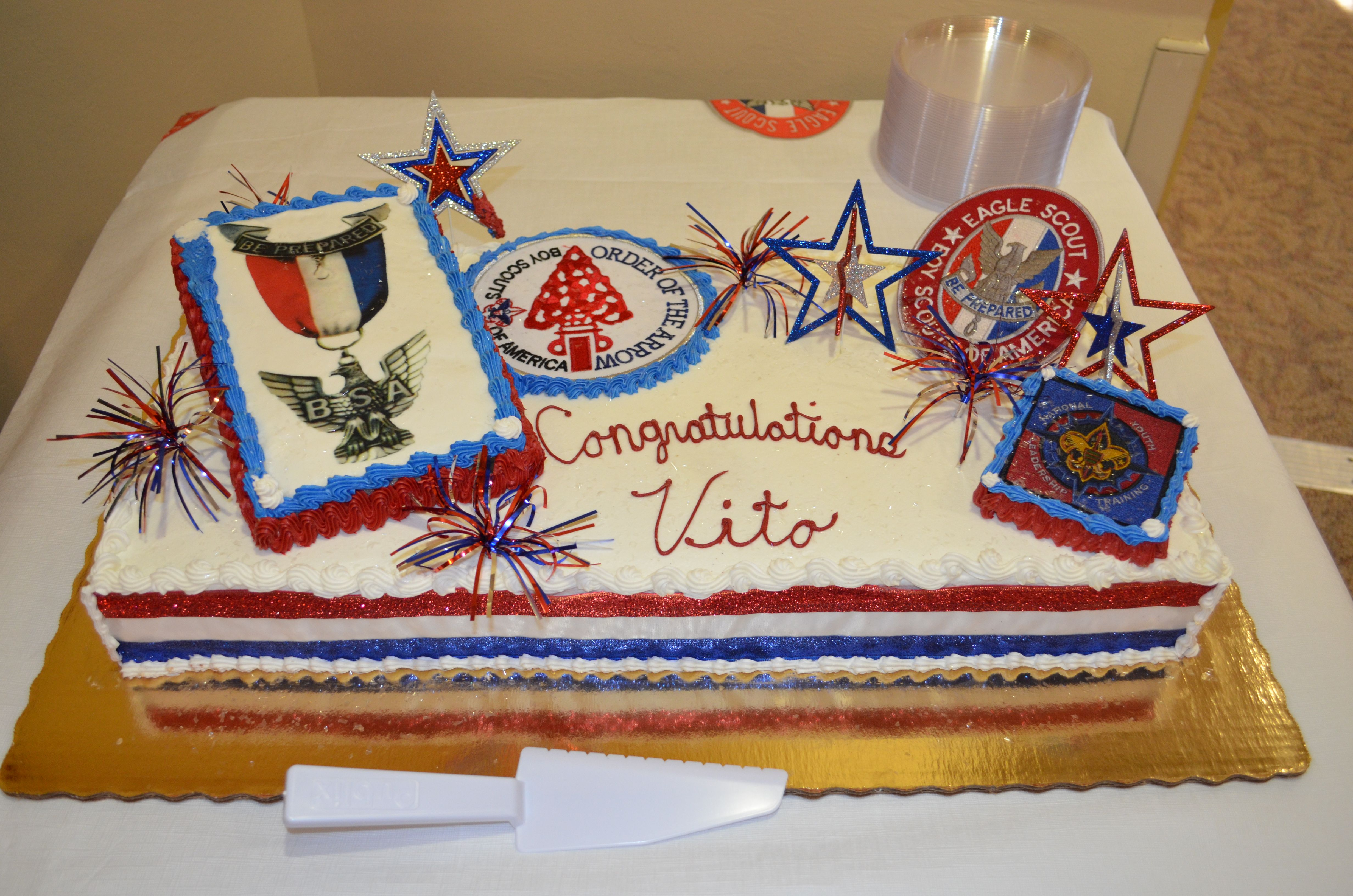 Eagle Scout Court Of Honor Cake Made By Publix With Images