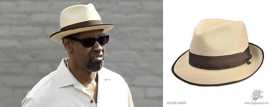 4e627c3a9205e Denzel Washington wearing the Stetson Latte Milan Fedora Hat in 2 Guns.