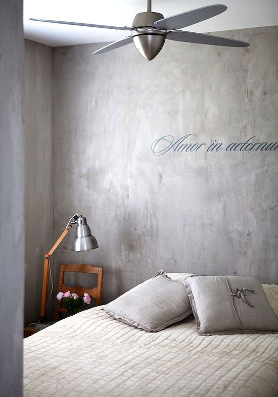Thedesignerpad Thedesignerpad Faux Concrete Wall Concrete Wall Home Bedroom