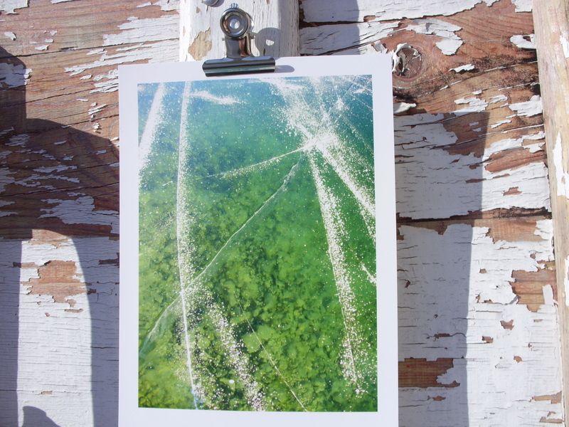 Spiegeleis, Plansee 2007  Abzug einer Originalfotografie, Format 13x18 nmit weißem Rand