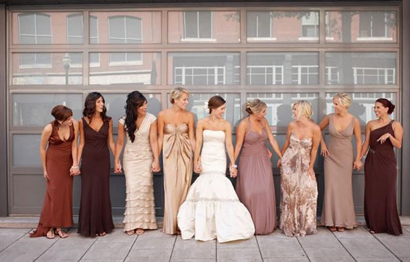 My Wedding I Will Let Bridesmaids Pick Their Own Dress Within A Color Scheme