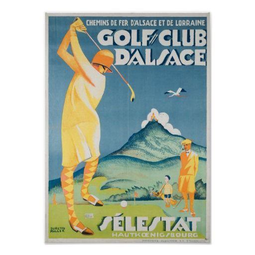 Vintage Golf Art Deco Poster France Poster Zazzle Com Vintage Apple Golf Fashion Art Deco Poster