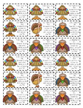 Thanksgiving Mini-Notecards