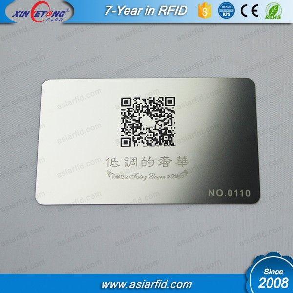 Best selling metal business card stainless steel card with printing best selling metal business card stainless steel card with printing qr code and laser engraved sequential numbers reheart Image collections