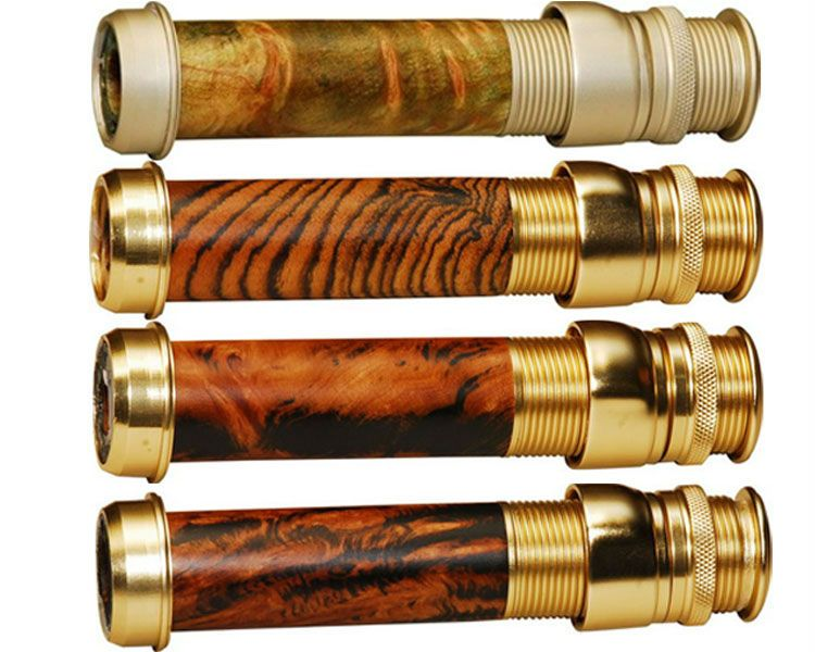 Classic Design Nature Burl Wood Fly Rod Reel Seat with cork insert A2 reel seat