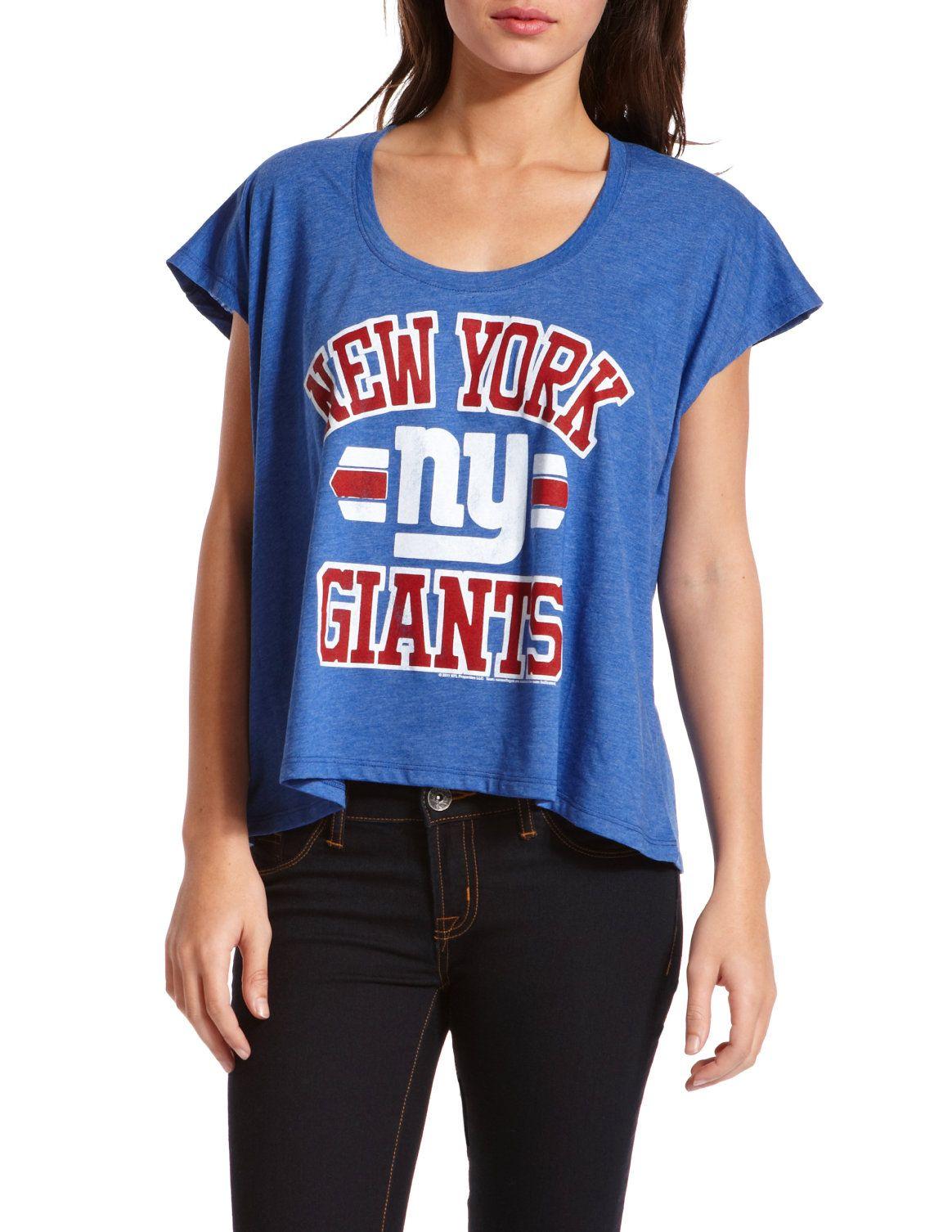 ny giants t shirts women's