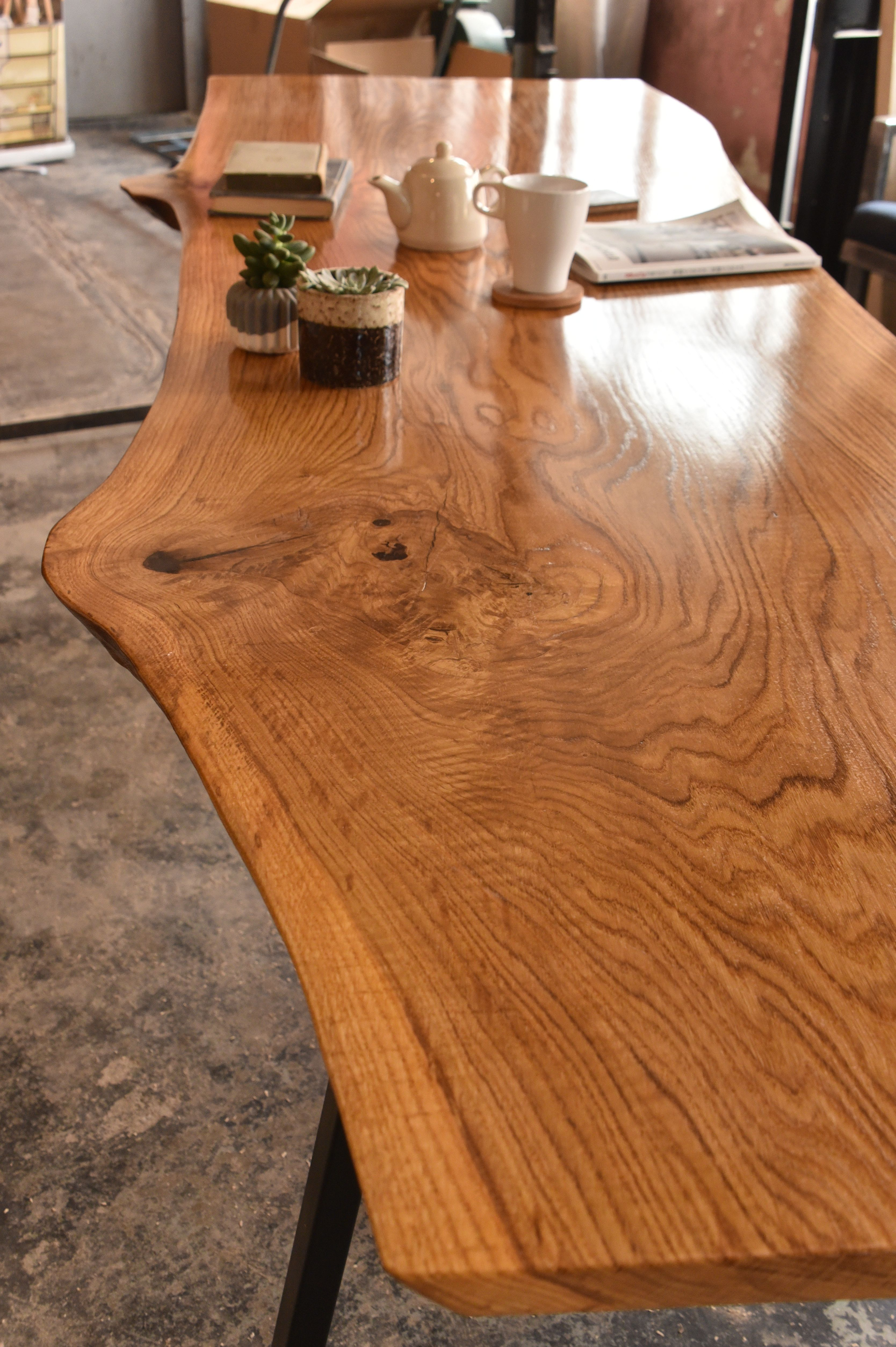 Oak Live Edge Slab Dining Table Live Edge Slab Dining Table Slab Dining Tables Slab Dining