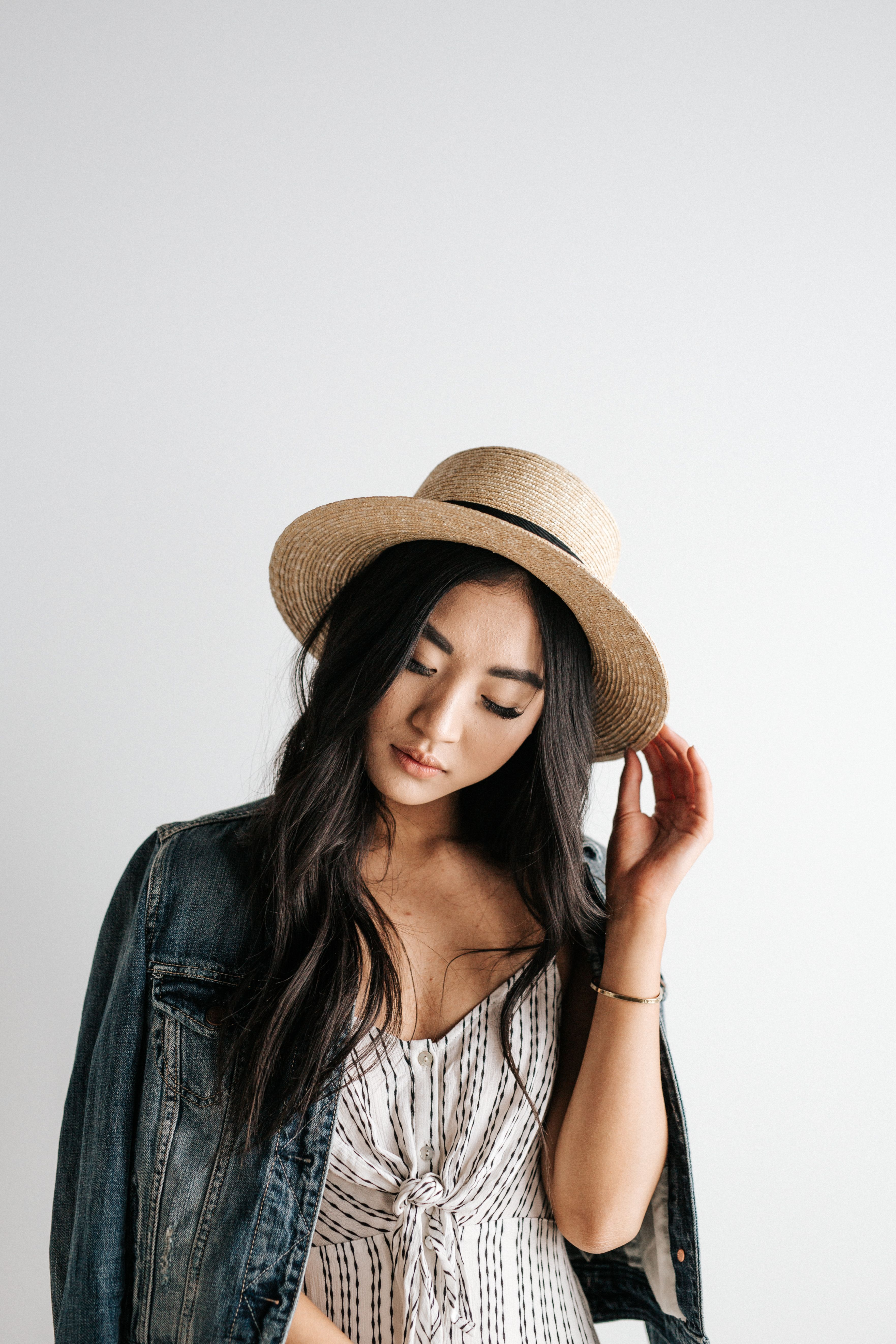 a6ae68cb0c87a Faye Short - Natural Straw Boater Brim Hat in 2019