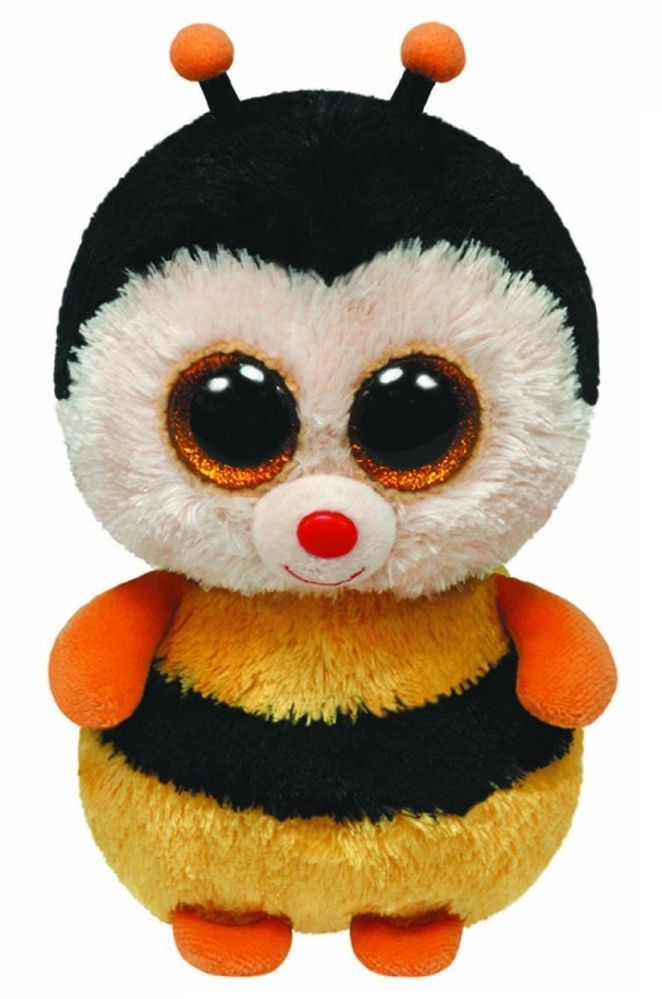 9 inch Sting the Bumblebee Bee - TY Beanie Boos Buddy Boo Plush Soft Toy  Teddy 05f86190496d
