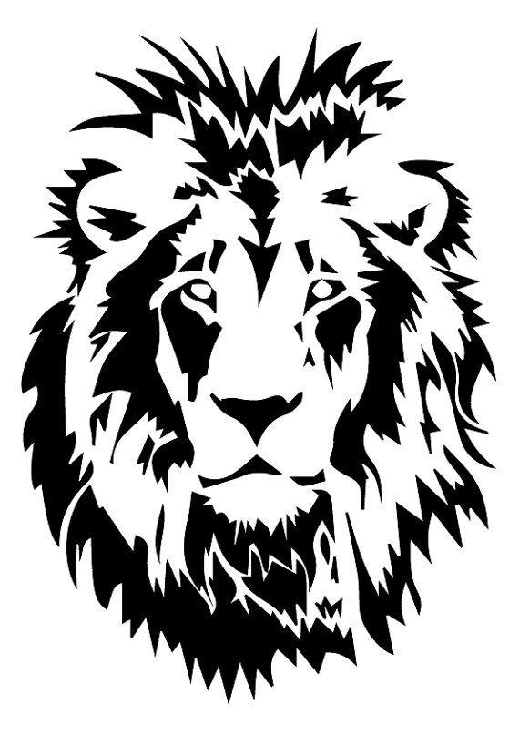 Lion svg lion eps lion kontur lion dateien dateien von - Tete de lion dessin facile ...