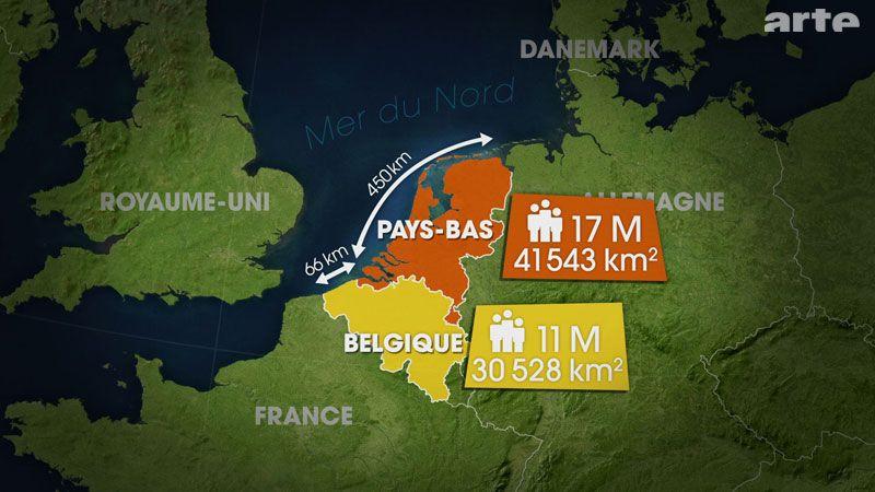 Die Kustengebiete Der Niederlande Und Belgiens Werden Ganz