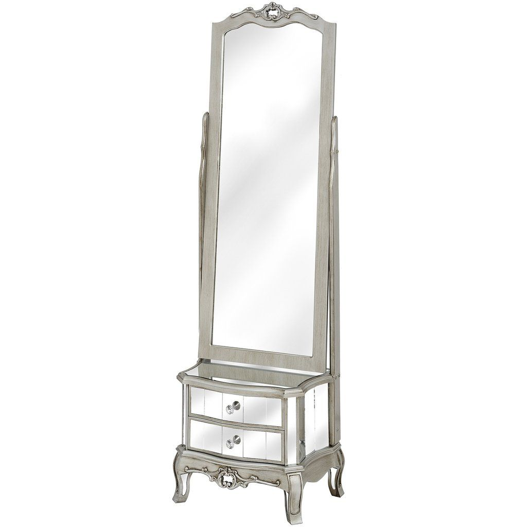 Argente cheval mirror with two drawers homedecor homeliving