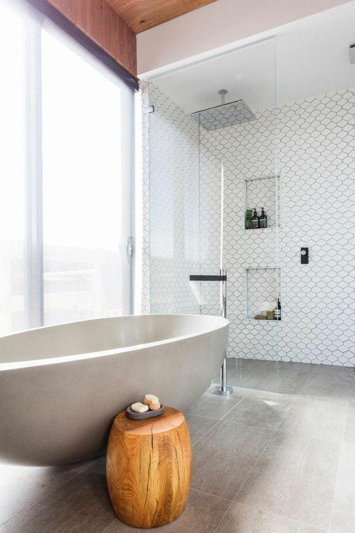 La baignoire ovale - les meilleurs idées pour votre salle de bains - baos con mosaicos