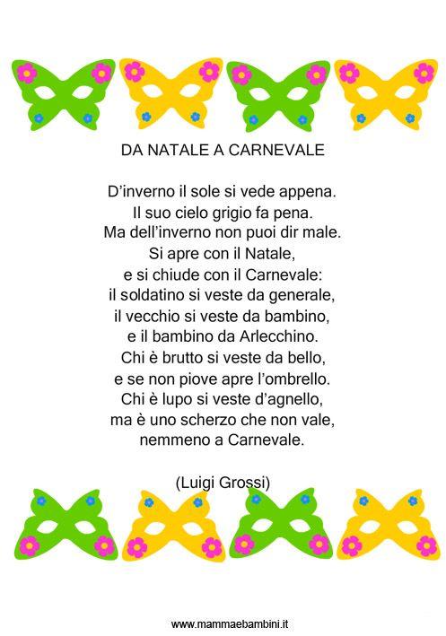 Poesie o filastrocche carnevale cerca con google for Cartelloni di carnevale scuola primaria