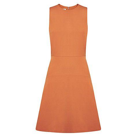 Buy Hobbs Kew Dress, Russet Orange Online at johnlewis.com