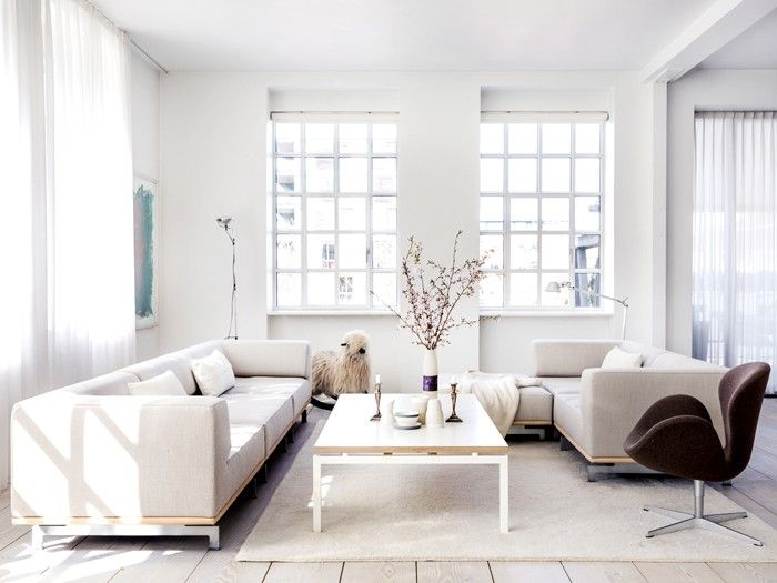 Gorgeous Modern Window Design Living Room Ideas With White Frame Glass Windows Plus Whit Beautiful Living Rooms Decor Loft Decor Industrial Living Room Designs