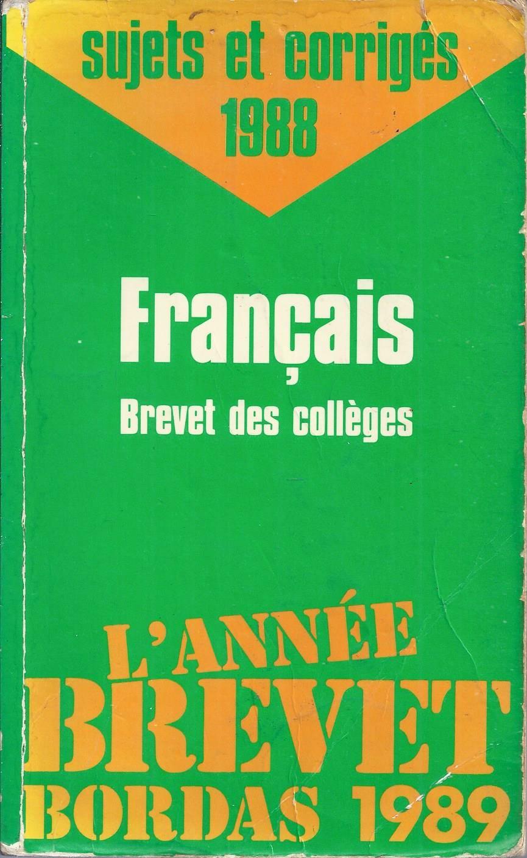 brevet des coll u00e8ges fran u00e7ais 1988