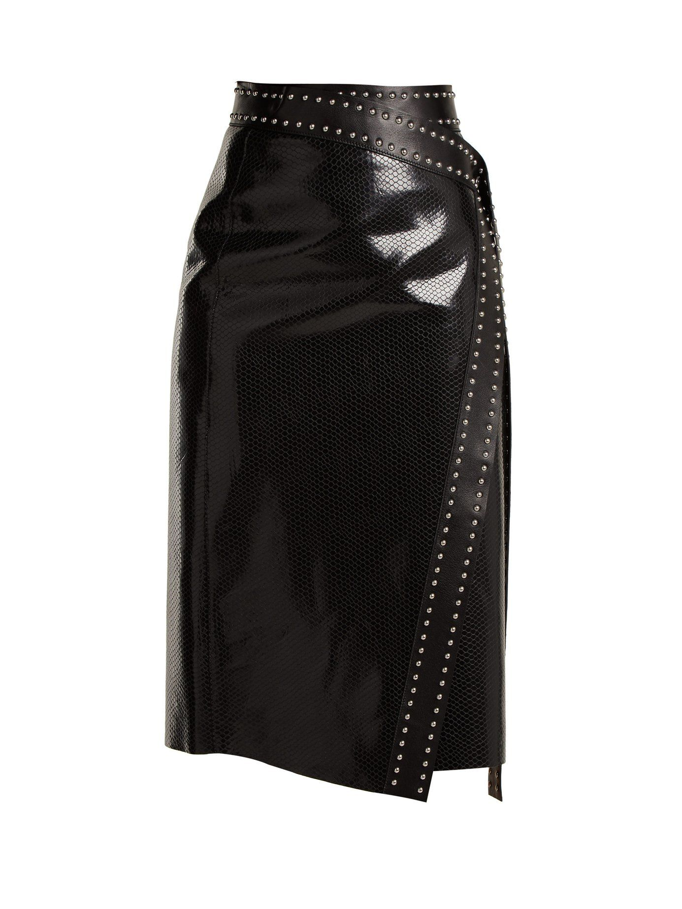 3431b20cb4 Python-effect leather wrap skirt | Alexander McQueen | MATCHESFASHION.COM US