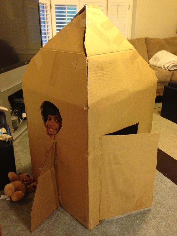 how to build a rocket ship from cardboard boxes