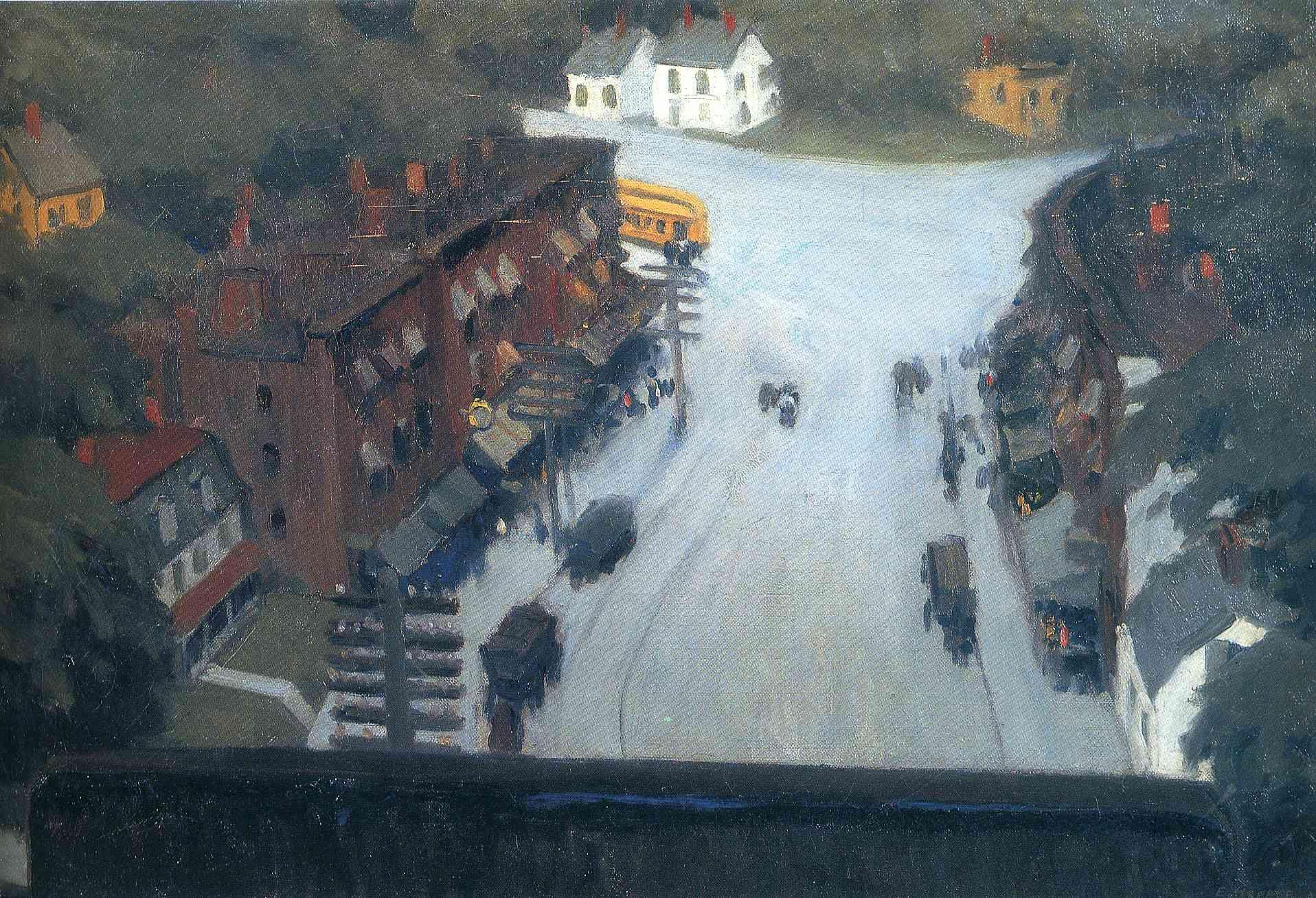 American Landscape: 1920 by Edward Hopper -etching ...  |1950s American Realism Art Landscapes