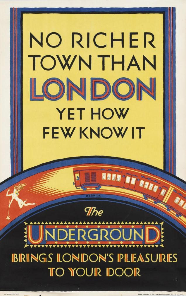 1920s London Underground Posters Remind Us That Trains Are Wonderful London Travel Poster London Underground Transportation Poster