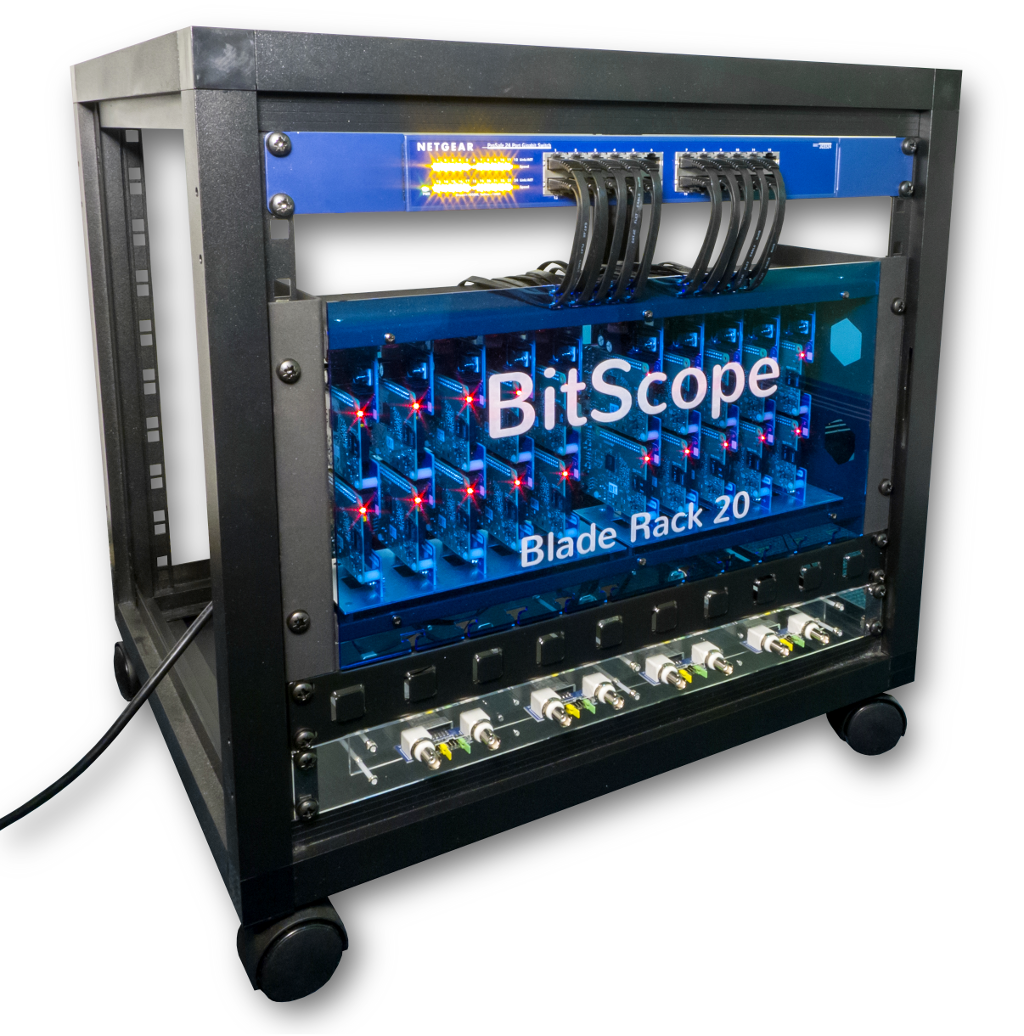 BitScope Blade Rack 20, a Duo Pi based Cluster Computer with