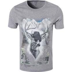 Olymp Herren T-Shirt, Body Fit, Baumwolle, grau meliert Olympolymp #Fitness clothes T-Shirts für Her...