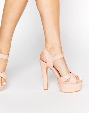 9ba7514a Sandalias de tacón y plataforma en nude Felicity de Miss KG | Shoes ...