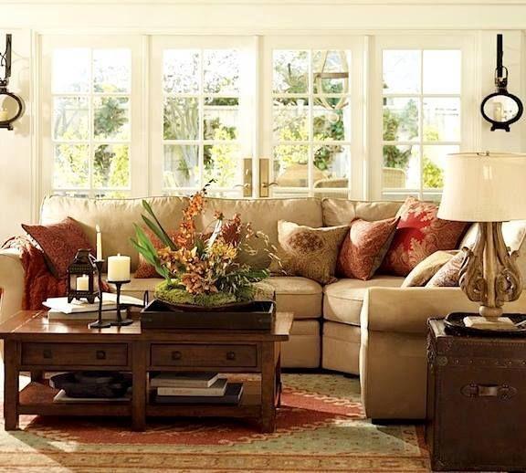 Pretty Living Room. Love The Sofa......