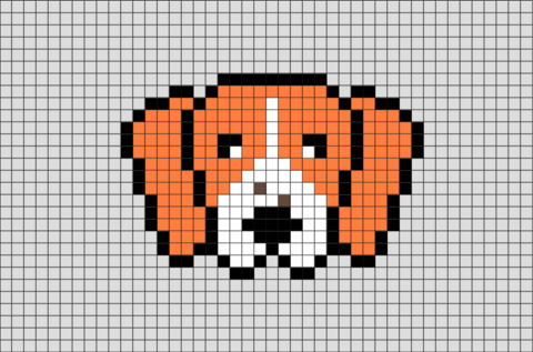 Beagle Pixel Art Pixel Art Art 8 Bit Art