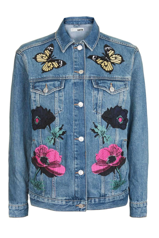 Pin By Iris Jun On Clothes Fashion Applique Jacket Floral Denim Floral Print Jacket [ 1530 x 1020 Pixel ]