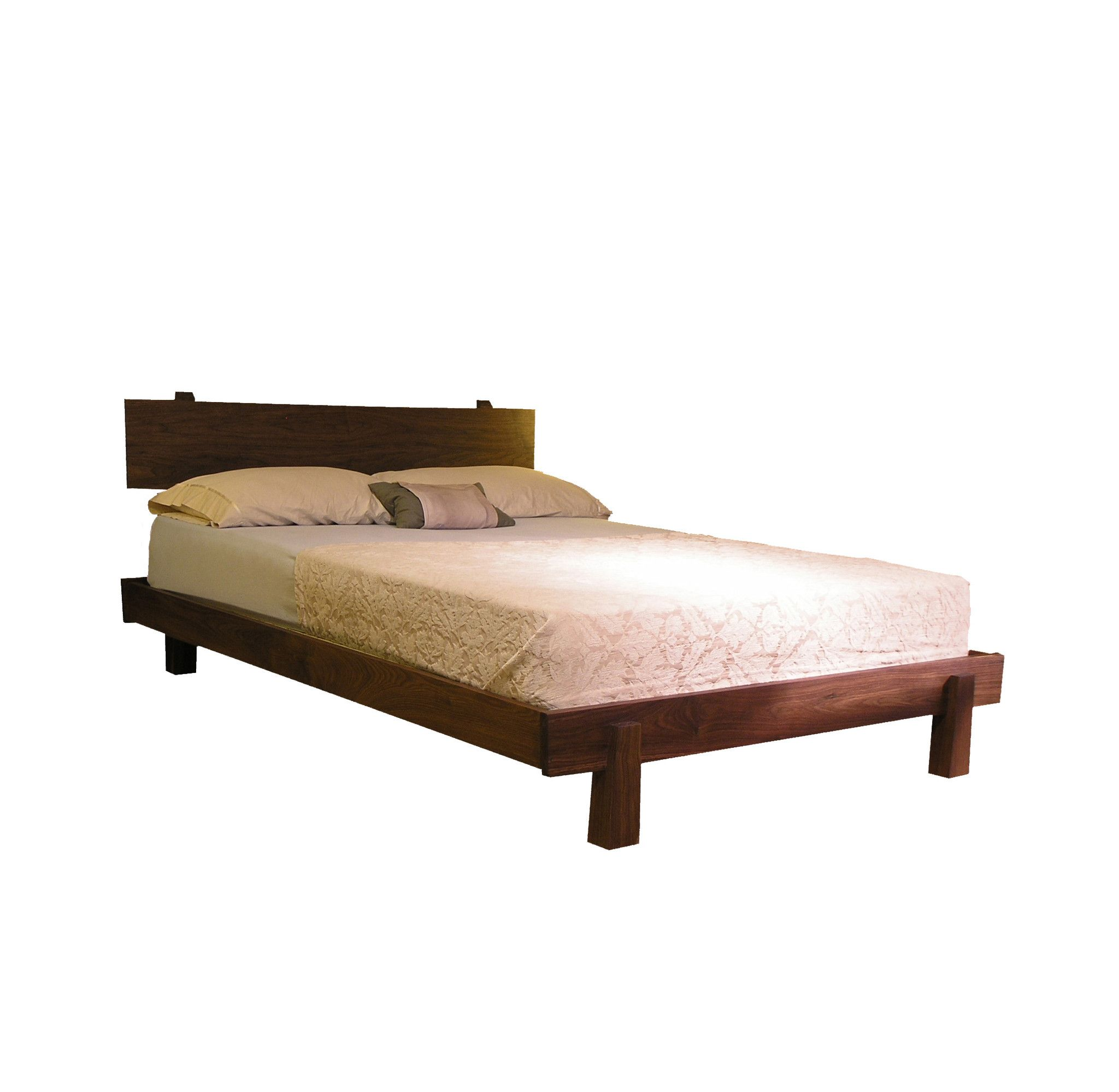 Solid Wood Bed Cherry, Walnut, Maple, White Oak Horizon