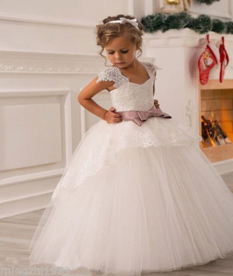 70c53b175134 2015 New Wedding Party Formal Flowers Girl Dress Baby Pageant ...