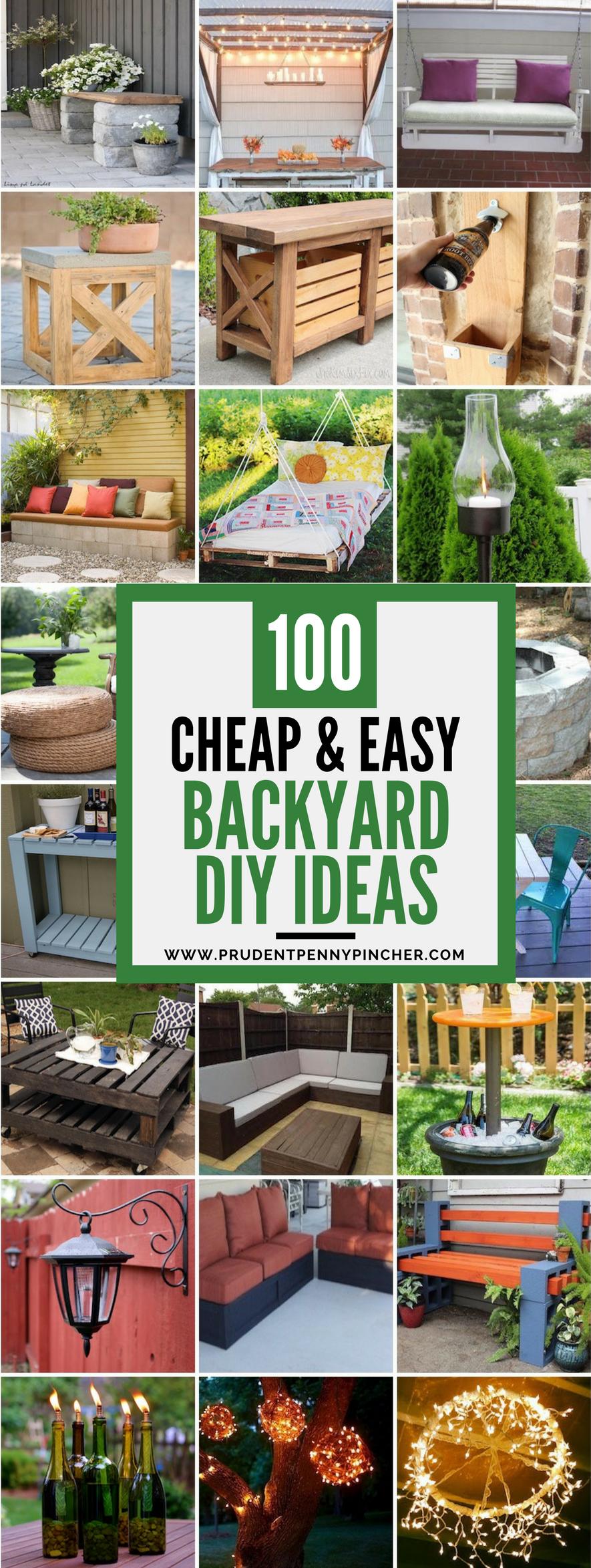 Photo of 100 cheap and easy DIY backyard ideas
