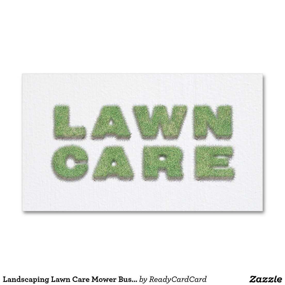 Cool Landscaping Lawn Care Mower Business Card Landscaping