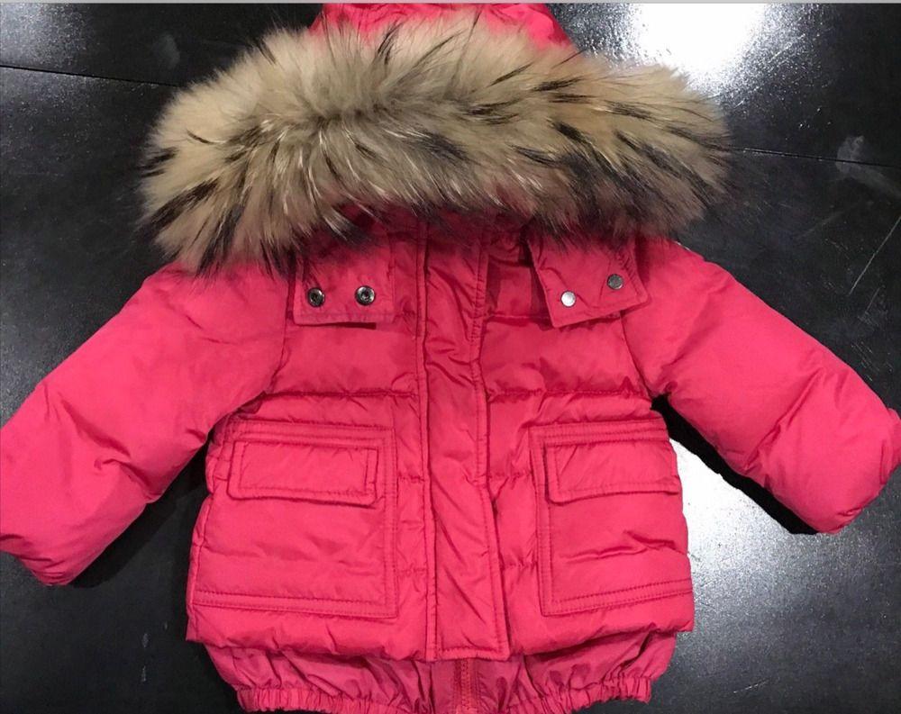 adfb063d8 MONCLER Fox Fur Hood Baby Girls Goose Down Jacket Coat Puffer Infant ...