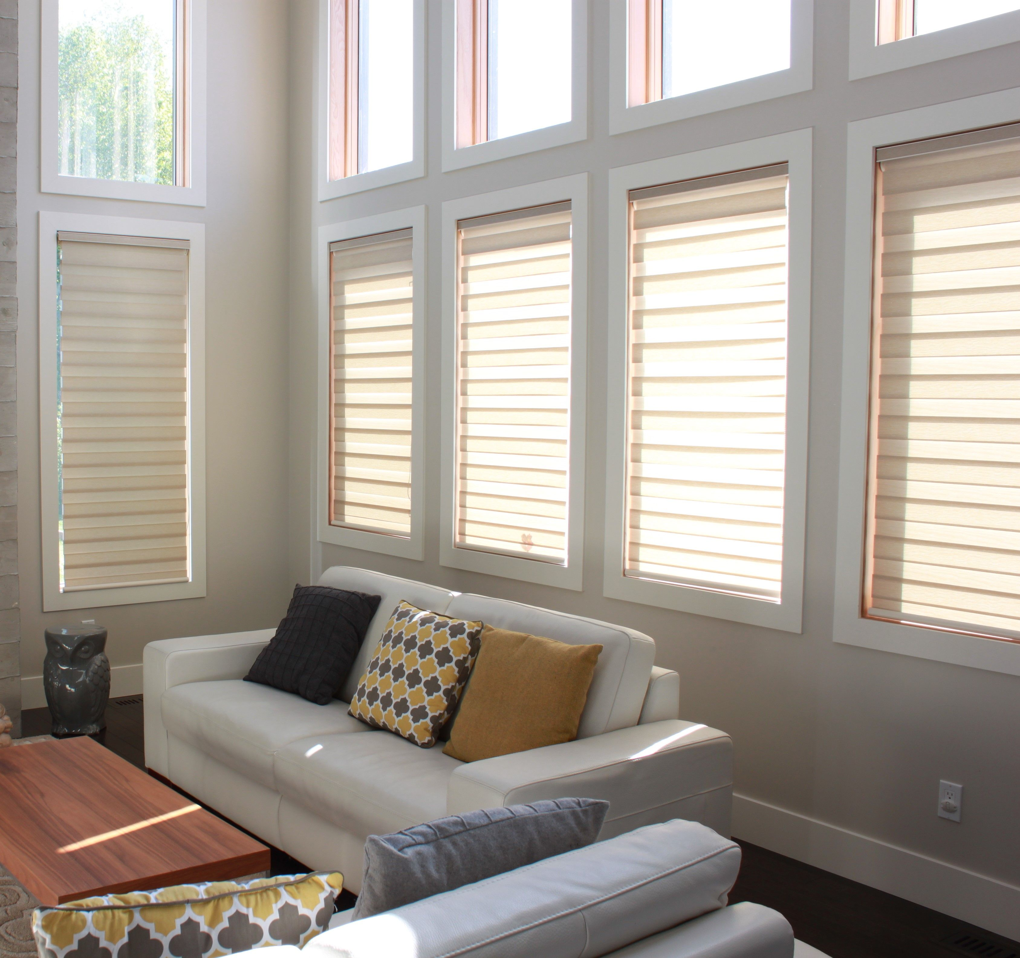 Sheer shades i an innovative fusion of light filtering fabric with