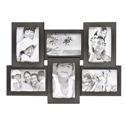 6-Opening Collage Frame - Black (6-4x6\