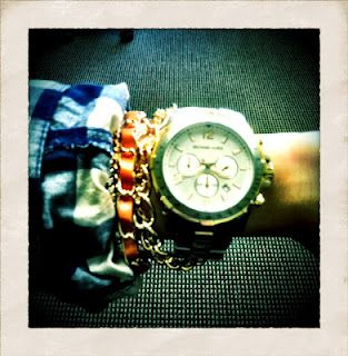 Today's arm party: Orange & Gold.
