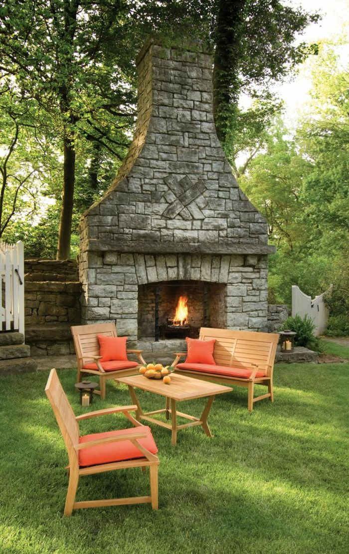 Garden Fireplace Or Open Hearth 48 Ideas How To Create Stylish Extraordinary Garden Fireplace Design Image