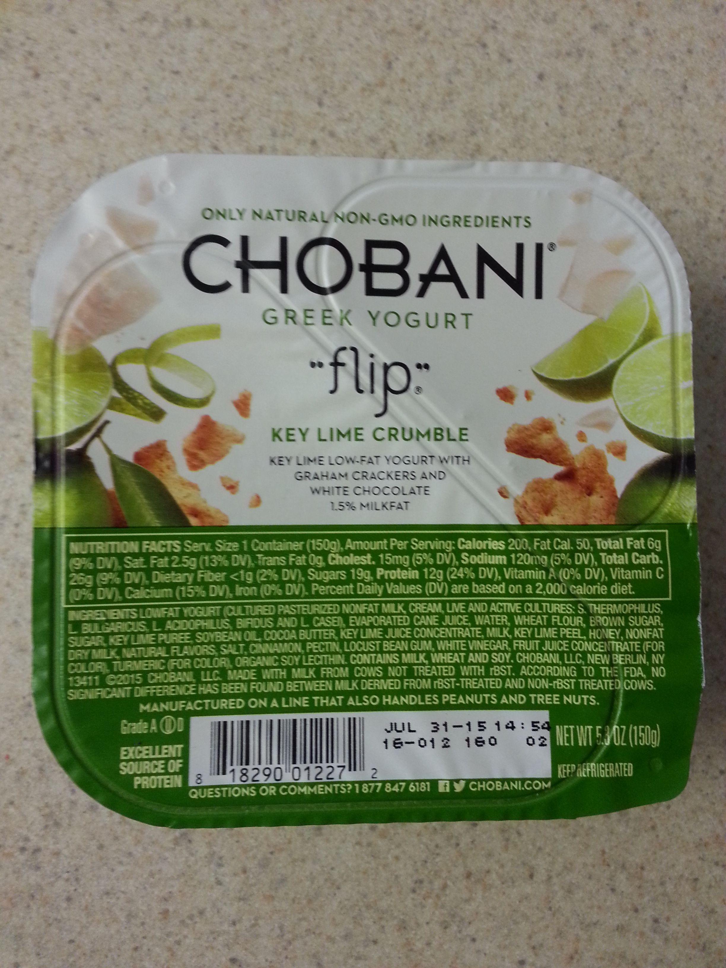 Chobani Flip Key Lime Crumble is my new go-to late night ...