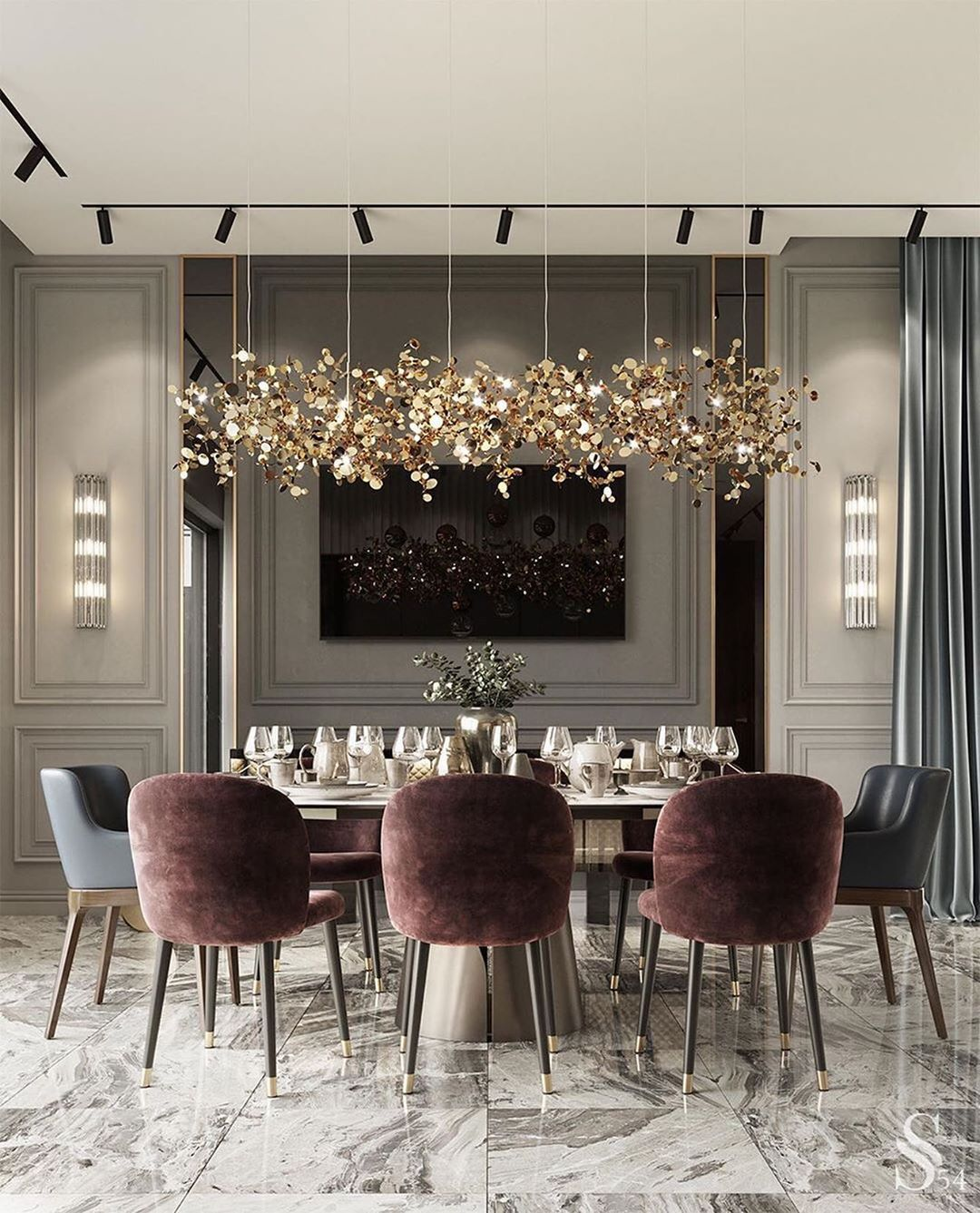 Luxury Interior By Aither On Instagram What A Classy Combination Of Modern Furniture With Gre Dining Room Design Modern Luxury Dining Room Modern Dining Room