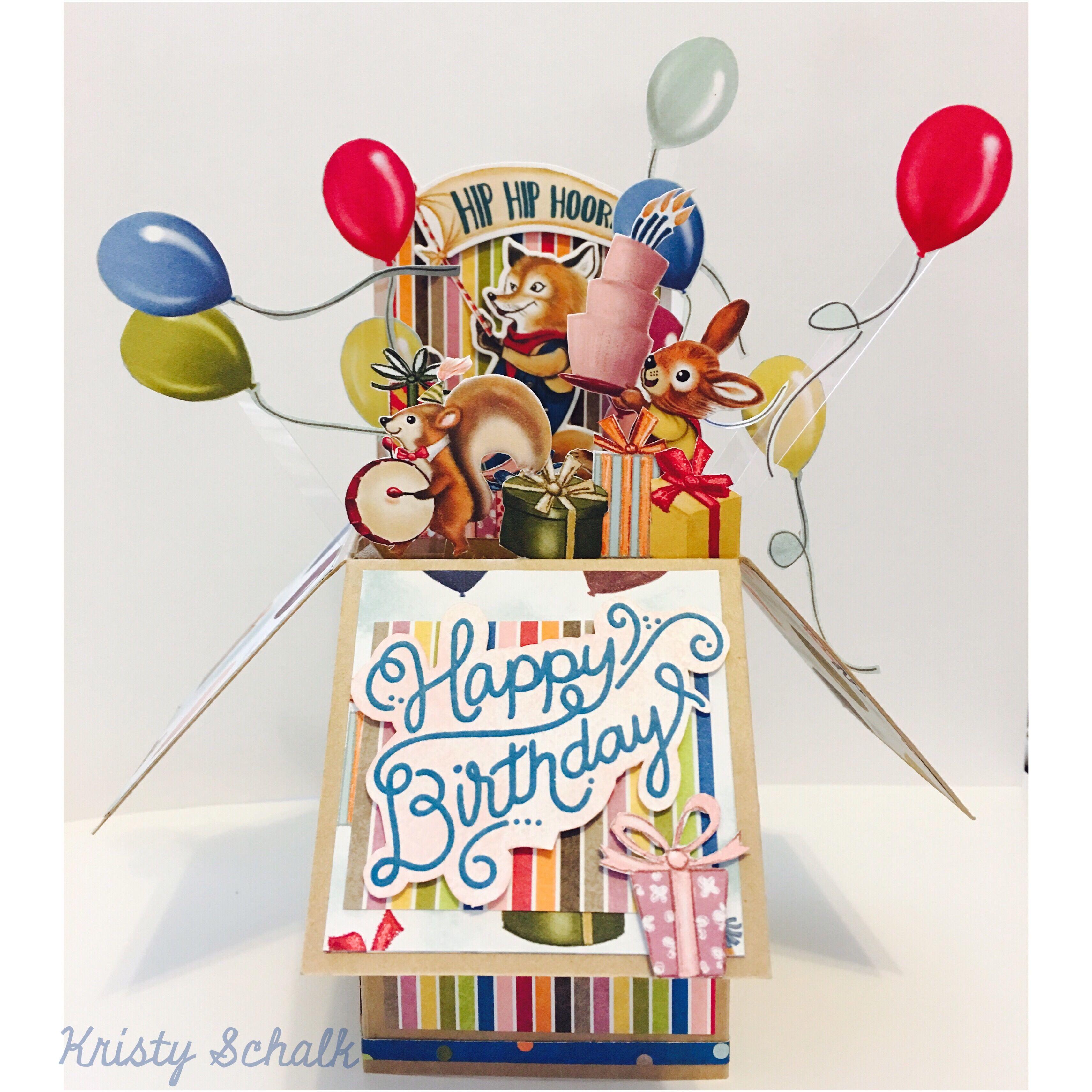 Birthday Delivery Pop Up Box Card (Stampin' Up!), birthday
