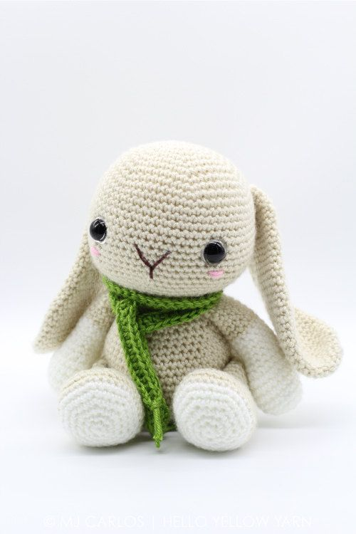 Crochet Amigurumi Bunny Rabbit PATTERN ONLY, Woodland Baby Bunny ...