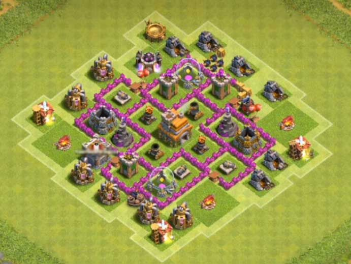 Base Coc Th 6 Trophy Terkuat 1